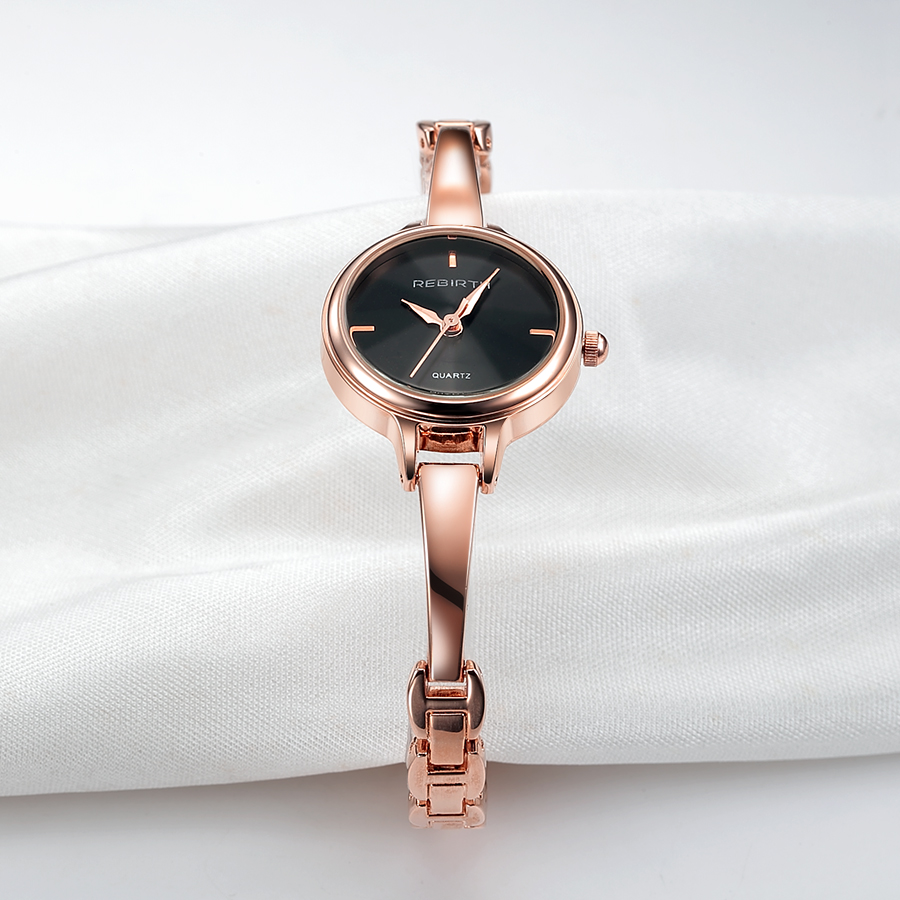 REBIRTH Fashion 2018 Women Watches Rose Gold Ladies Watch Top Brand Luxury Wrist Watches Clock Women Gift relogio feminino saat top brand contena watch women watches rose gold bracelet watch luxury rhinestone ladies watch saat montre femme relogio feminino