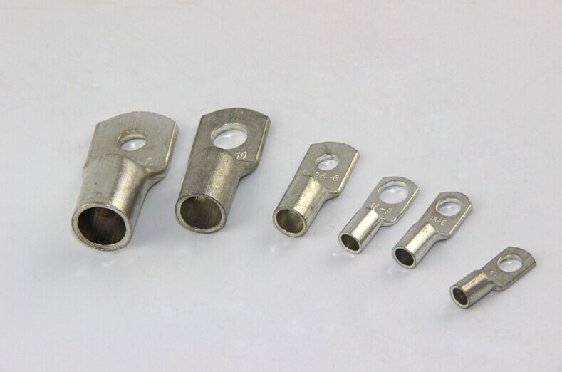 30pcs/Lot <font><b>SC35</b></font>-<font><b>8</b></font> 35mm2 8mm Bolt Hole Tinned Copper Cable lugs Battery Terminals image