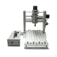 300W Cnc Router Engraving Machine Mach3 Control Mini Diy Wood Lathe 2520 3axis Work Stroke 200