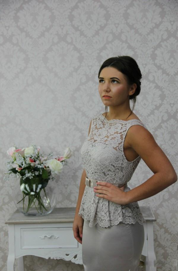 Silver Peplum Dress