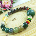 Colorful natural agate beads Buddha Bracelets with the six Mantra  For Women and Men
