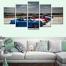 HD Print 5 Panel Classic Car Picture Poster Canvas Painting Living Room Bedroom Wall Art Mural