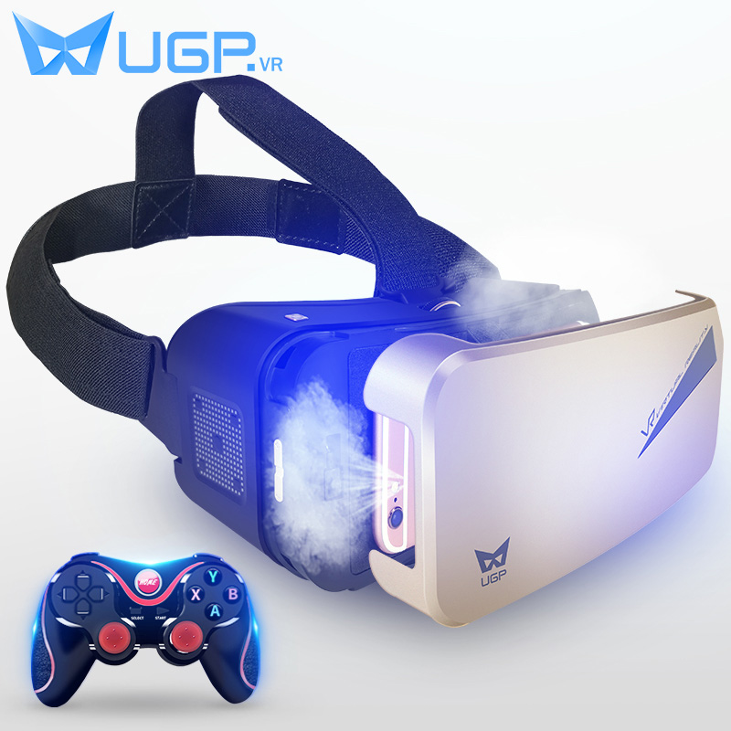 UGP OTG VR Glasses Touch Control 3D Virtual Reality Glasses Helmet With Bluetooth Gamepad For 3.5 - 6.0 inch Android SmartPhone omimo wifi virtual reality vr helmet 3d three dimensional android virtual reality glasses full hd 1080p