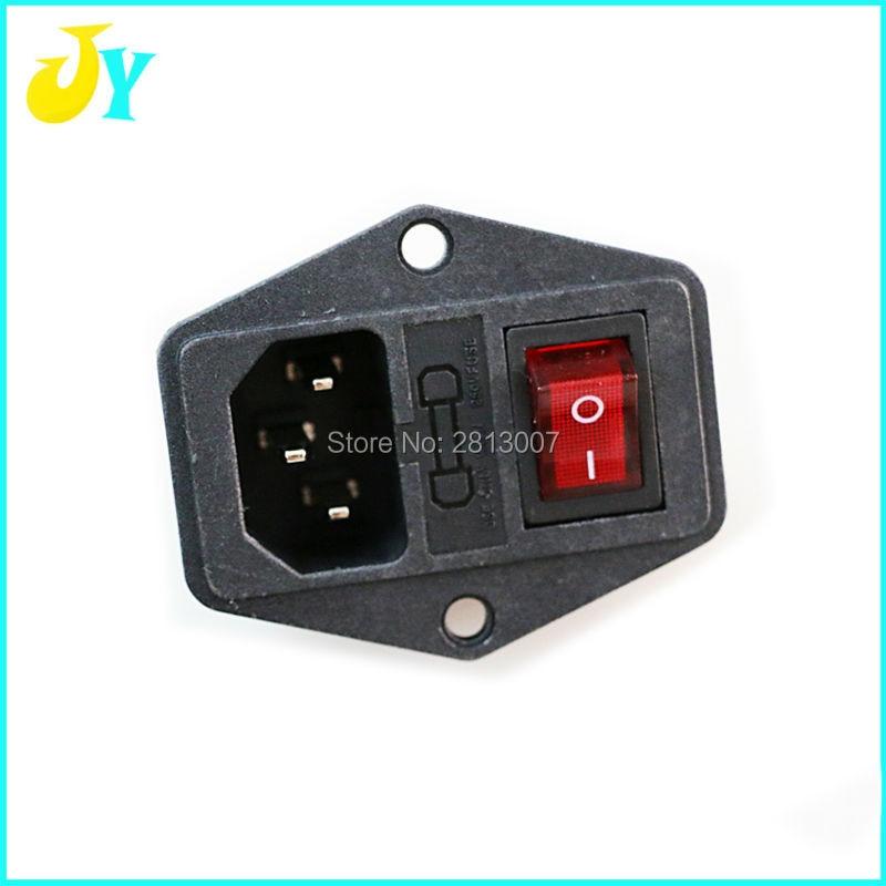10 STÜCKE Power Wippschalter IEC 3 Pin XD 110 C Inlet Power ...