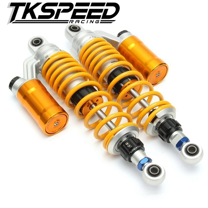1XPair 350mm/12.5'' Motorcycle modified Adjust damping Nitrogen Shock Absorbers Rear Suspension For Scooter BWS all motorcycle electric motor speed modification battle calf fight three generation bws damping adjustable shock dj1 horse