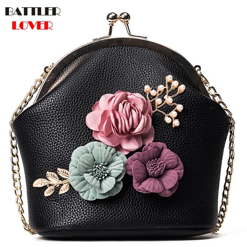3D Flower Shell Bags for Women 2019 Bags Women Handbag Bolsa Feminina Shoulder Messenger Bag Luxury Handbags Womens Bag Designer