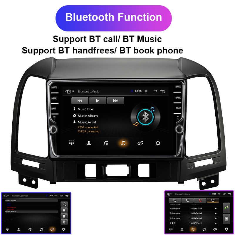 """Navivox Android 8.1 2 din 9 """"auto radio multimedia speler Voor Hyundai Santa Fe 2005-2012 dvd gps navigatie navi stereo DSP"""