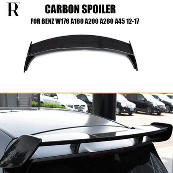 цена на W176 W177 AMG Style Carbon Fiber Rear Roof Trunk Spoiler Wing for Benz W176 W177 A180 A200 A260 A45 AMG 2013 UP