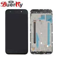 BKparts Tested For ZTE Blade V6 D6 Z7 X7 T660 T663 LCD Display Touch Screen With Frame Glass Digitizer Complete Assembly