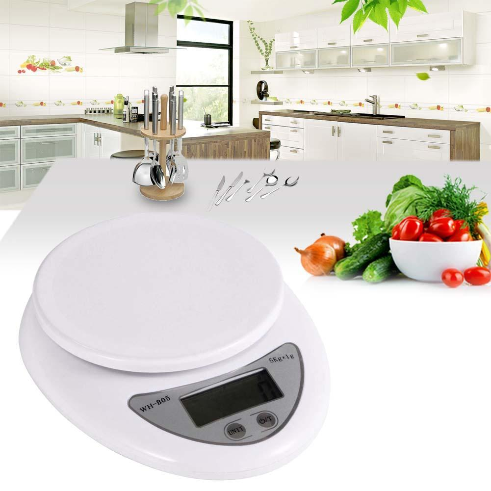 Free shipping High Quality Useful New 5kg 5000g/1g Digital Kitchen Scales Food Diet Postal Scale balance # P EHO
