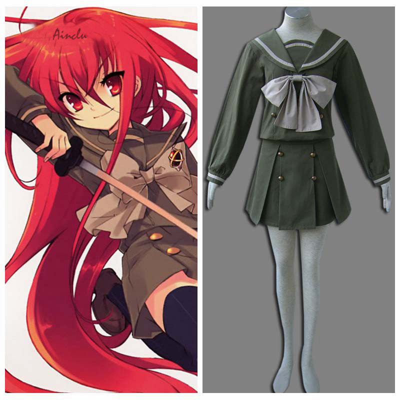 Ainclu Hot Selling Costume Shakugan no Shana Anime Female Winter Uniform Halloween Cosplay For Adult  and Kid Costume Customize