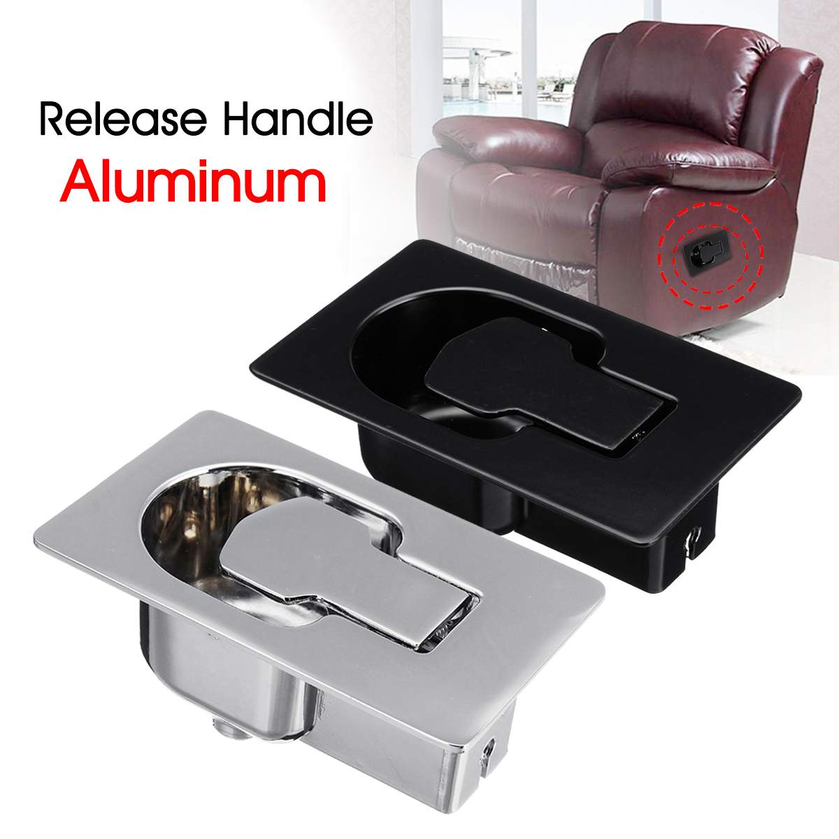 Aluminum Handle Recliner Chair Sofa Couch Release Lever Trigger Replacement