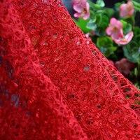 Chaos Net Strand Lace Fabric Embroidered Fabric Nylon Fabric 150cm 5yards Luxury Dress Fabric Skirt Fabric