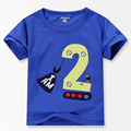 Number Series No. 2 print Baby Boys t shirt 2016 Summer 100% Cotton Toddler Boy Shirts Kids clothes 18M - 6T Children's Clothing
