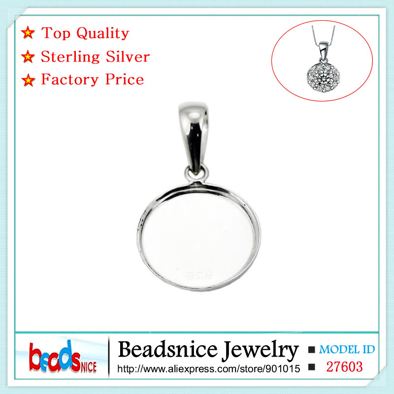 Beadsnice pure 925 sterling silver pendant tray round bezel beadsnice pure 925 sterling silver pendant tray round bezel pendant blanks diy sterling silver jewelry wholesale id27603 in pendants from jewelry mozeypictures Image collections