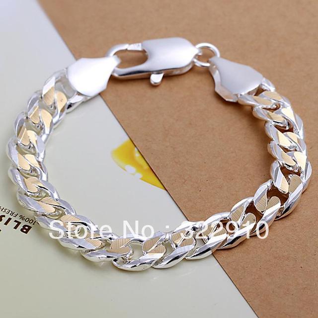 Wholesale Men S Jewelry 925 Silver Fashion Bracelet About 8inch