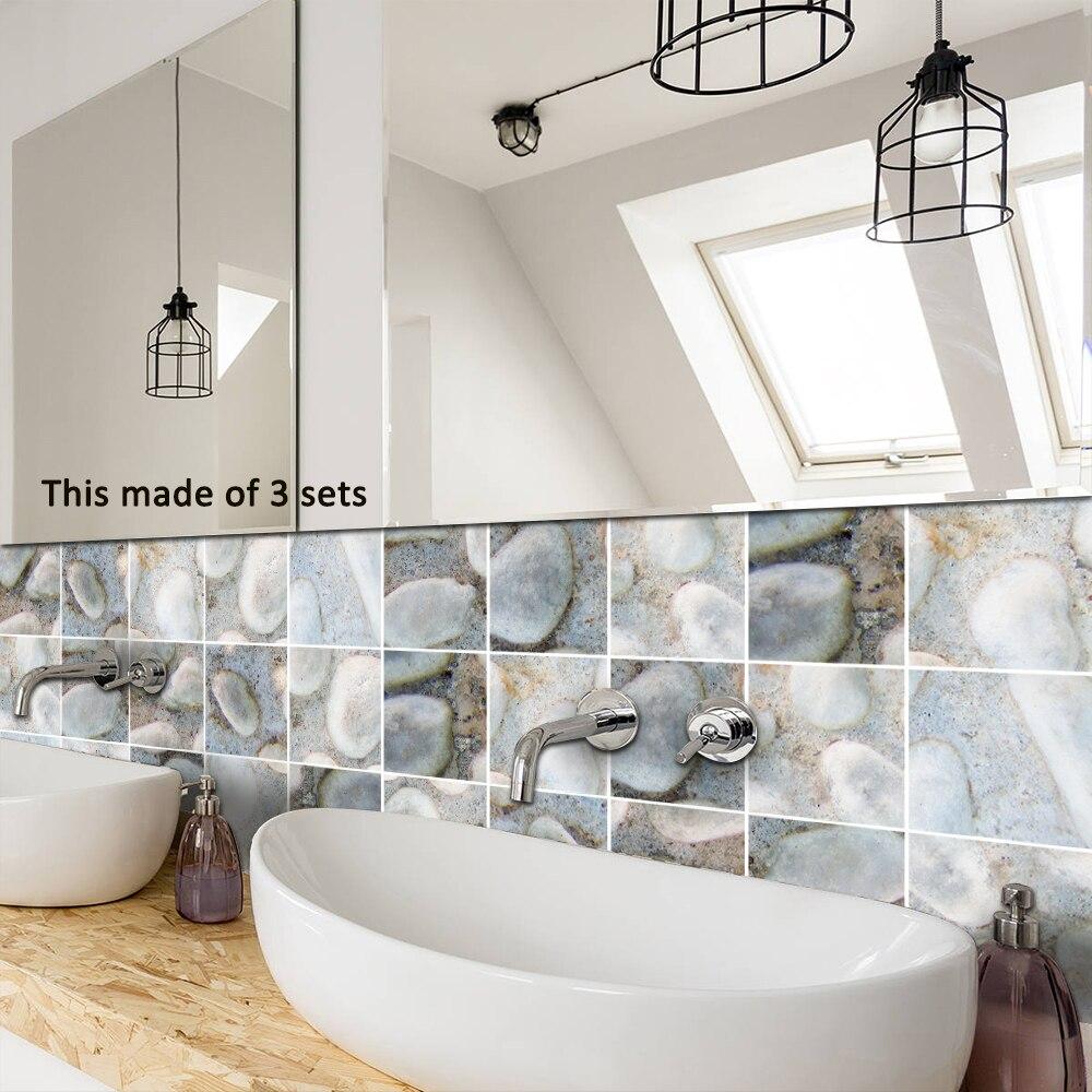 Funlife Self adhesive Waterproof Easy to Clean Cobblestone Tiles ...
