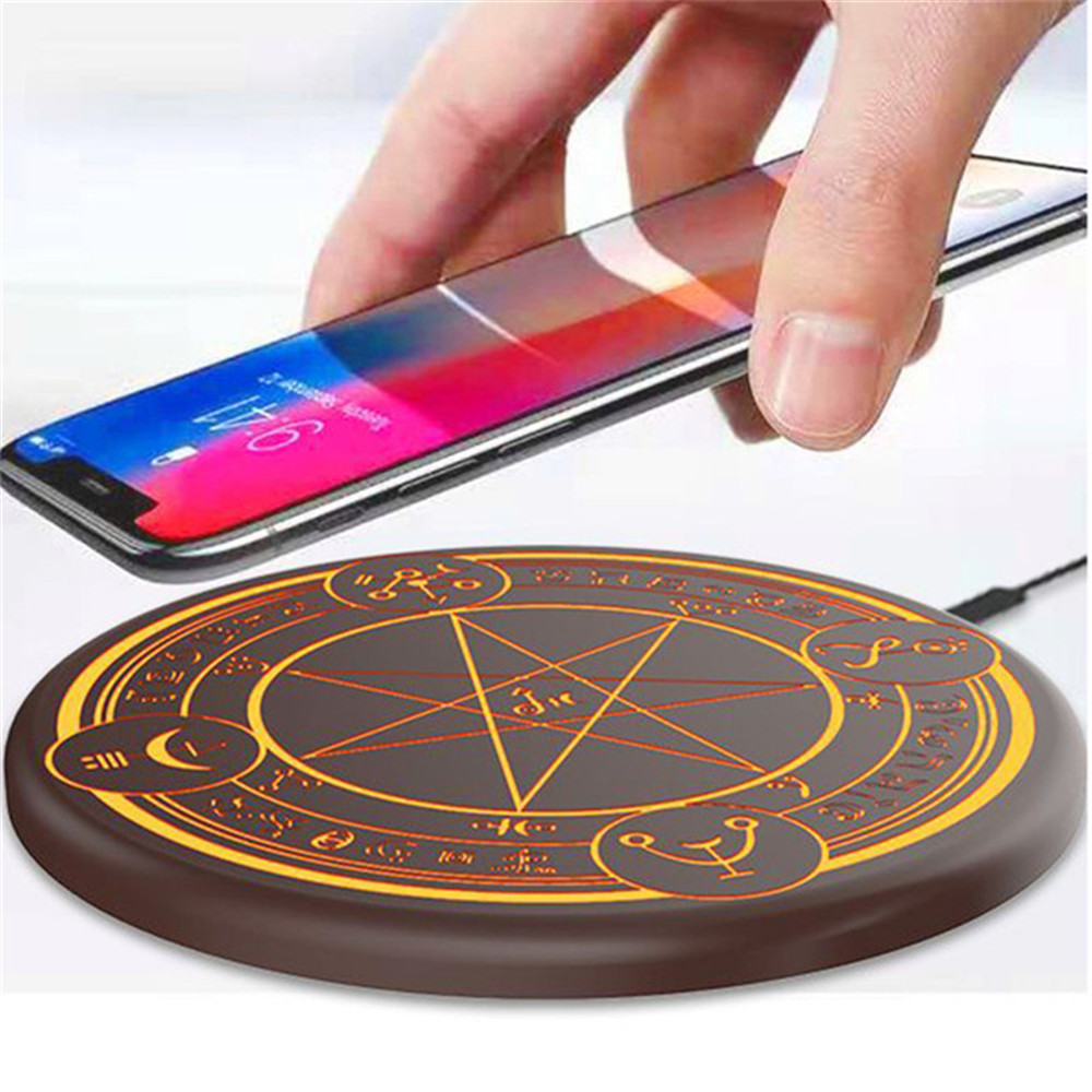 10W Qi Wireless Fast Charger Circle Magic Optical Array Wireless Charging For QI Standard Full Range Wireless Charging Phone