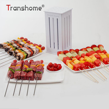 16 Holes Kebab Maker Box Food Slicer BBQ Grill Beef Meat Skewer With Bamboo Skewers Barbecue