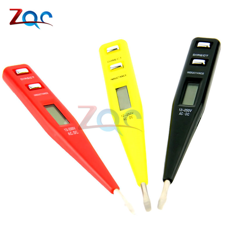 New Non-Contact LCD Electric AC/DC Voltage Alert Detector Tester Sensor Test Pen Red Black Yellow