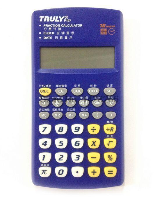 2016 New Arrival Sale 10 Handheld font b Calculator b font Led Truly P127 School Supply
