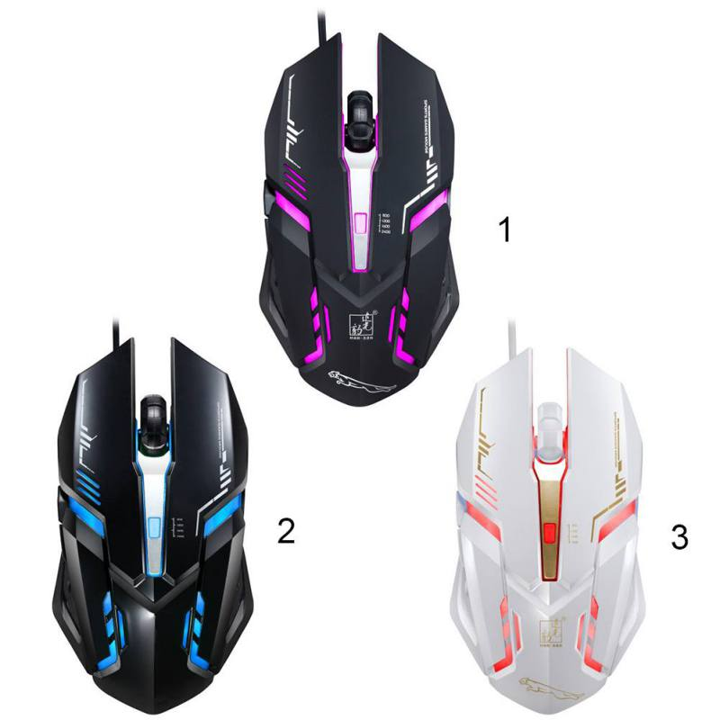 V17 Wired Luminous Gaming Mouse 2400 DPI Adjustable Professional Game Chips Optical Engine for Cool Game Experience image