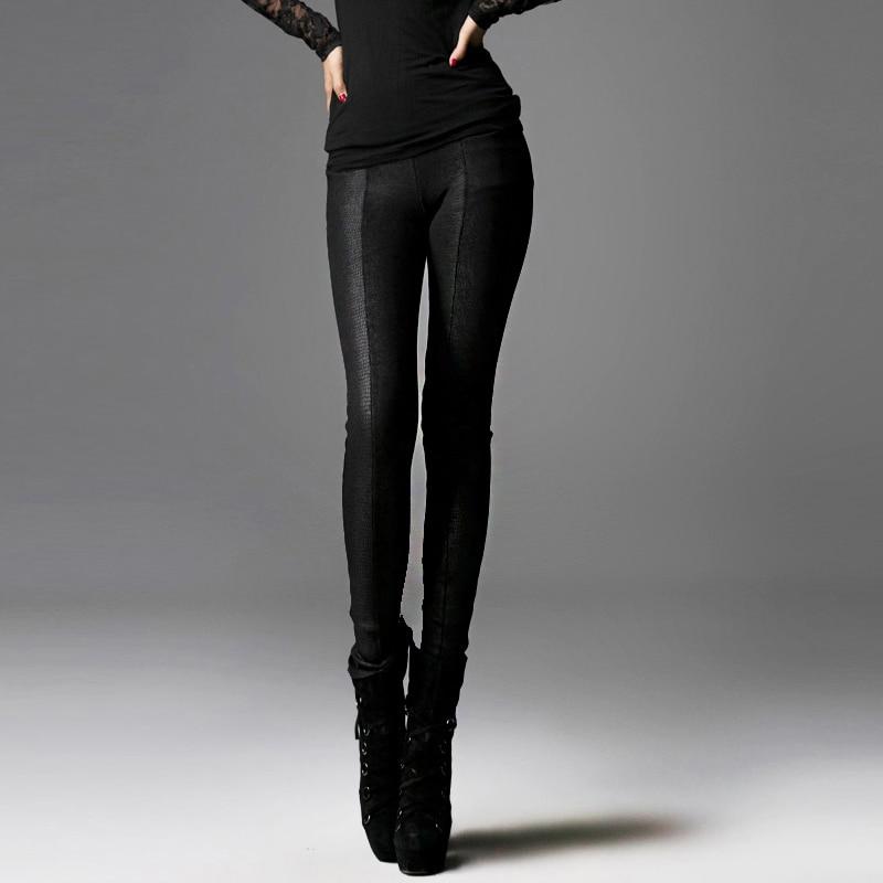 Punk Rave Gothic victorian Winter pants Leggings Macbeth Snakeskin line WARM Women fashion S M L