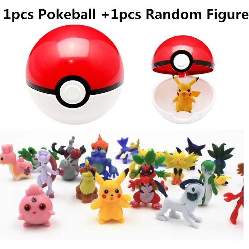 7CM PokeBall+3CM <font><b>Poke</b></font> <font><b>Monsters</b></font> <font><b>Action</b></font> <font><b>Figure</b></font> PVC Anime Cute <font><b>Pikachu</b></font> <font><b>Monsters</b></font> PokeBall Kids <font><b>Toys</b></font> #E