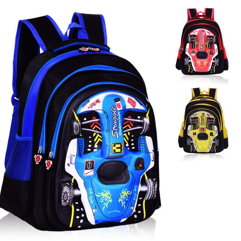 Cartoon 3D Car School Bags For Teenagers Boys Waterproof School Backpack Schoolbags Satchel Kids Bag Mochila Kids & Baby's Bags