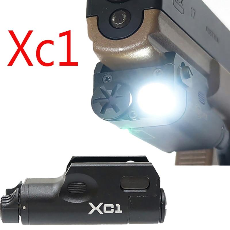 High Lumen XC1 Pistol MINI Light Tactical Military Airsoft Hunting Flashlight Used In GLOCK ex414 element airsoft tactical xc1 pistol flashlight weapon hunting flashlight glock sf xc1 ultra compact handgun m92 light