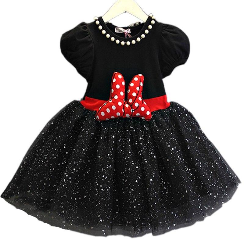 3193d03ae 2019 nueva Navidad niños princesa Minnie niñas fiesta tutú vestido niños  dibujos animados Vestidos infantiles disfraz bebé niña ropa de arco