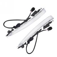 1 Pair 12V Car Daytime Running Light Turn Signal Dual DRL LED Lights for Ford Escape/Kuga 2013 2014 2015 2016 Auto Accessories