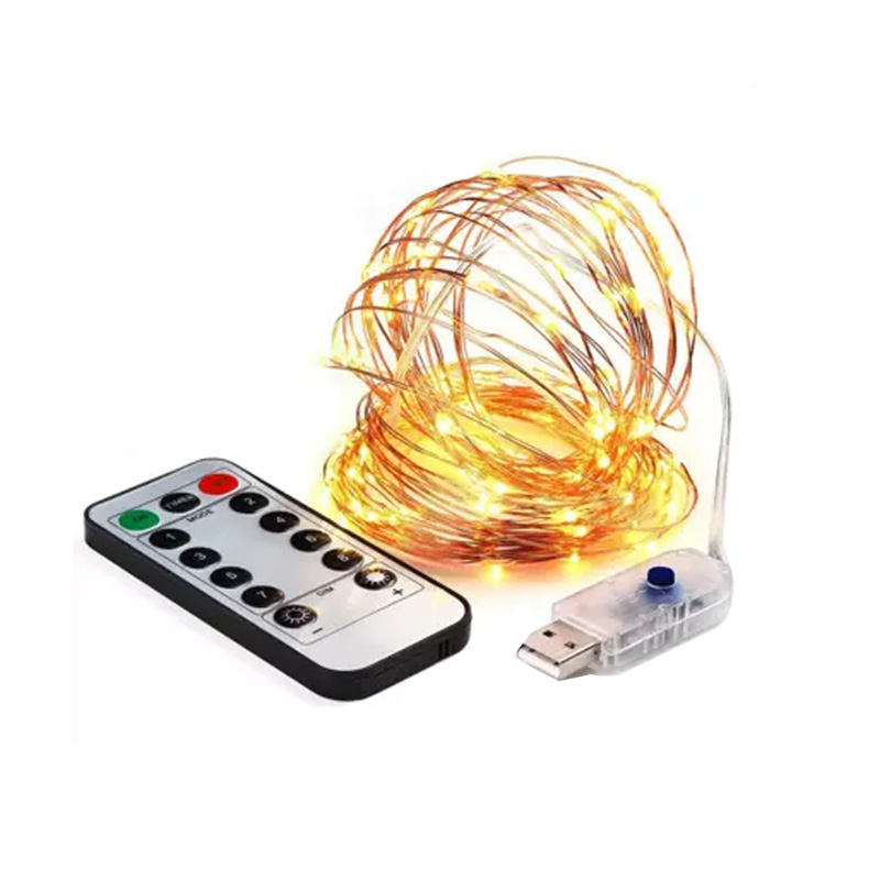 8 Modes USB DC 5V Led String Lights 10Meter 100 Leds Copper Wire Warm White LED Xmas Lights Waterproof Party Wedding Holiday