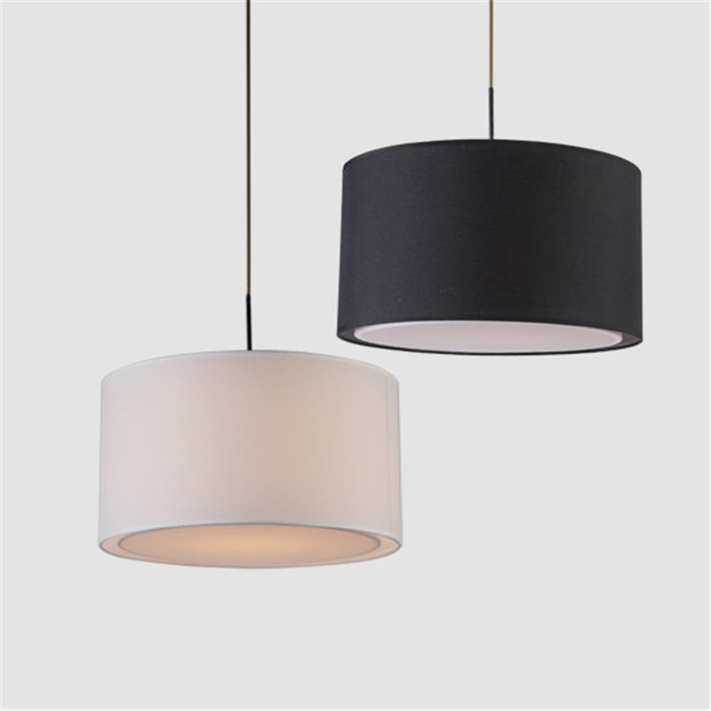 Hanging Light Round: Aliexpress.com : Buy Modern Round Fabric Pendant Lamp For