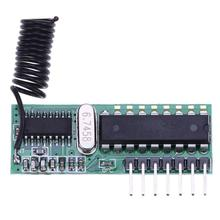 ALLOYSEED 433Mhz RF Superheterodyne Decoding Transmitter Receiver Module Kit with Antenna for remote control door switch