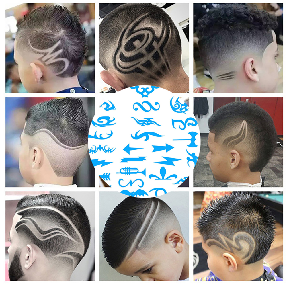 New Hair Styling Tattoo Template Stencil Diy Hairdressing Model