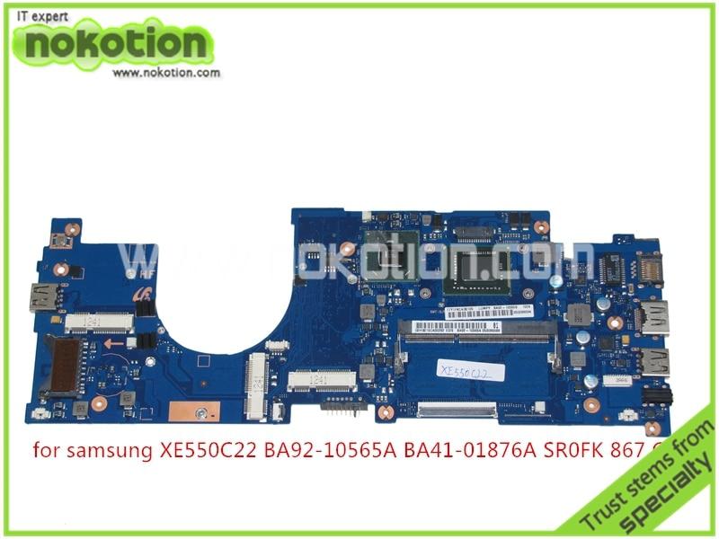 NOKOTION Mainboard BA92-10565A BA92-10565B for samsung XE550C22 laptop motherboard intel HM70 SR0FK Pentium 867 CPU