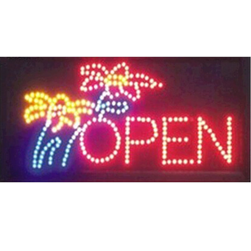 2017 hot sale 10*19 Inch Semi-outdoor Ultra Bright flower shop signage led sign signage