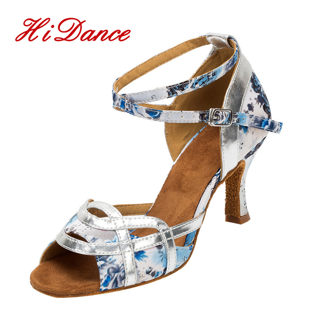 size 40 0e645 5393b US $52.86 |New Zapatos Salsa latinos Mujerblue e porcellana bianca di Stile  cinese colore Professionale Scarpe Da Ballo Latino Sandali femminile L in  ...
