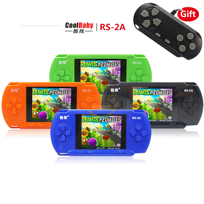 Handheld Games For Kids Coolboy 3.2″ RS-2A Built 280 Classical Game Children's Game Consoles Double Play Support External handle
