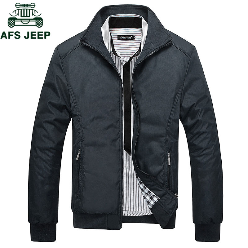 AFS JEEP Spring Autumn Casual Mens Jackets Plus Size 5XL Jaqueta Masculina Sportswear Bomber Jacket Mandarin Collar Jacket Homme