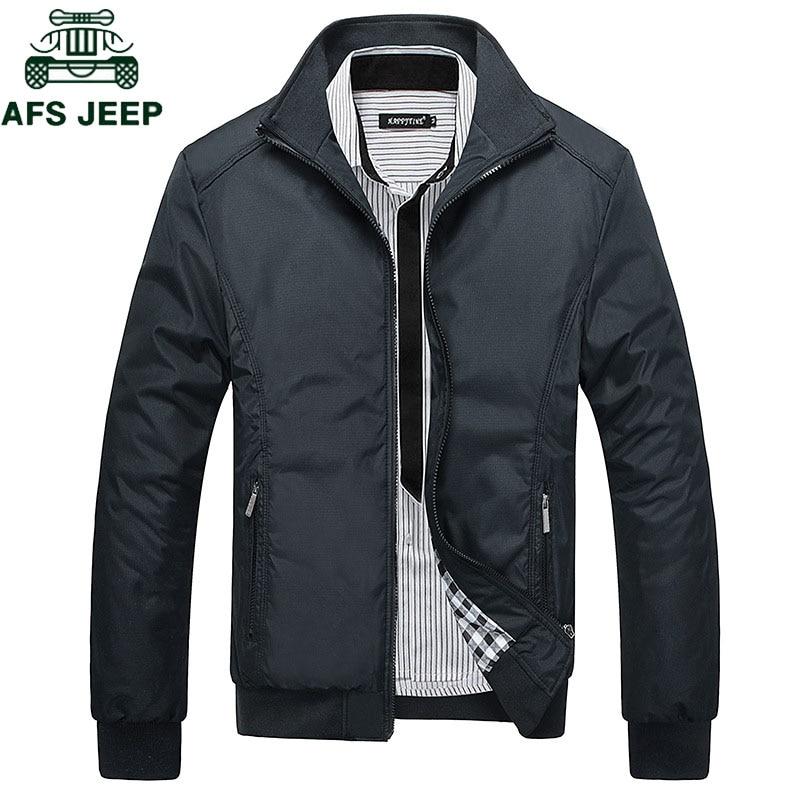 AFS JEEP Spring Autumn Casual Mens Jackets Plus Size 5XL Jaqueta Masculina Sportswear Bomber Jacket Mandarin Collar Jacket Homme