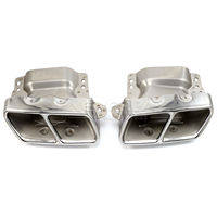 2pcs Set Stainless Steel Auto Car Exhaust Pipes Tail Muffler Tips For Mercedes Benz W221 W164