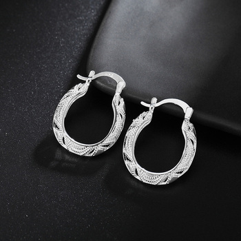 wholesale for women fashion Silver color fashion charms wedding Party earring hot luxury jewelry nice stamped , JSHLE039