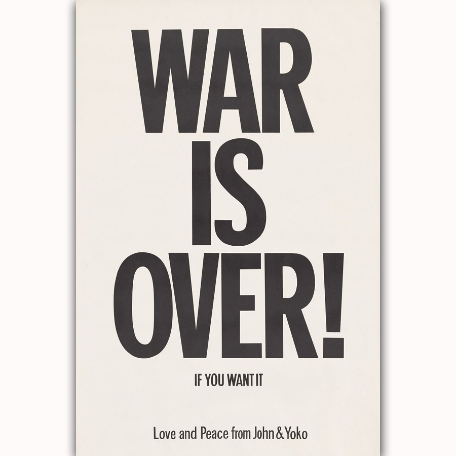 Mq3695 John Lennon Yoko Ono War Is Over 1969 Rock Music Band Quote