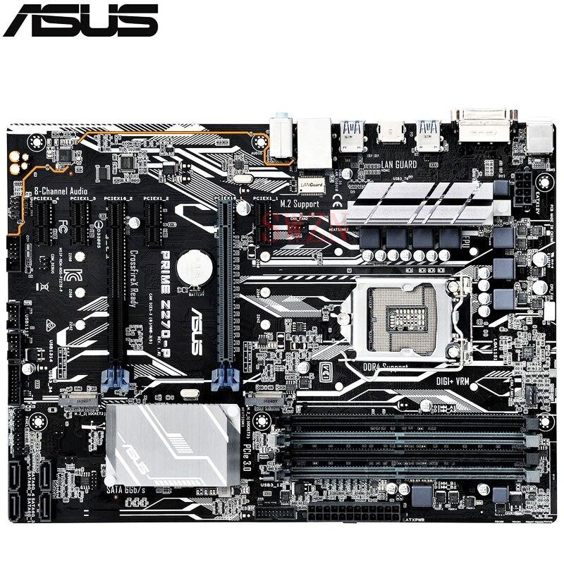 original New Desktop motherboard For ASUS PRIME Z270 P Z270 LGA1151 I7 I5 I3 4 DDR4