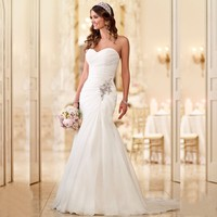 2016 New Arrival Vestido De Noiva Robe De Mariage Bridal Dress Mermaid Trumpet Chiffon Wedding Dresses
