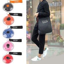 Multifunctional Folding Retractable Portable Shopping Bags Pocket Saucer Bag Nylon Material