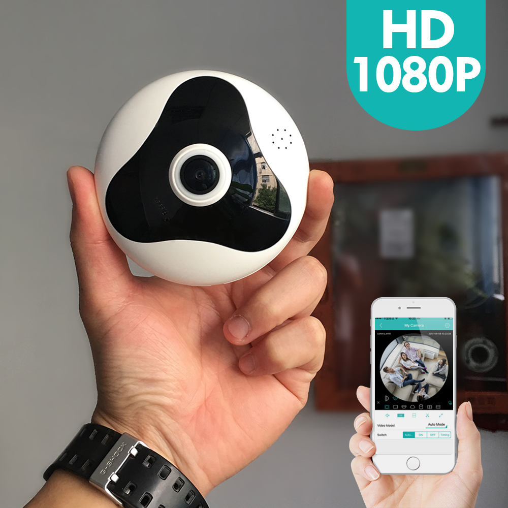 SDETER 1080P 720P IP Camera Wifi Panoramic Fisheye 360 Degree Home Security Network CCTV Camera Video Record IR CUT P2P Camera
