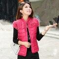 2015 новый женский зима мода мандарин воротник толстая теплой меховой хлопка-ватник лоскутное жилет пальто 8 цветов LY1757